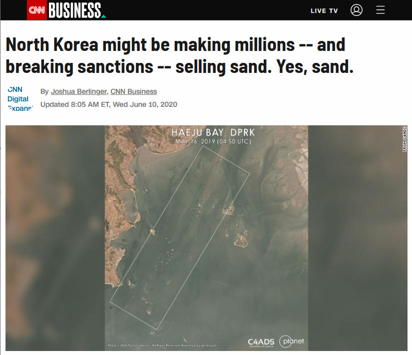 CNN: North Korea might be making millions -- and breaking sanctions -- selling sand. Yes, sand.