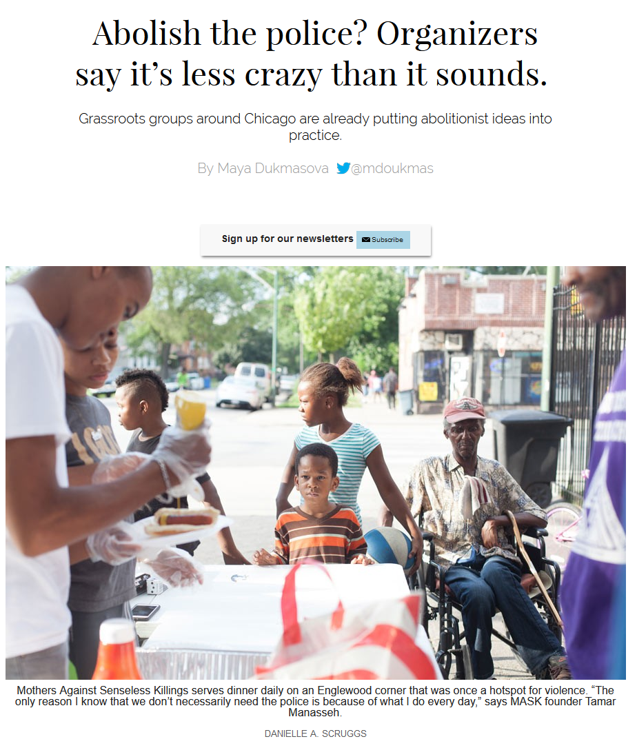 Chicago Reader: Abolish the police? Organizers say it's less crazy than it sounds.