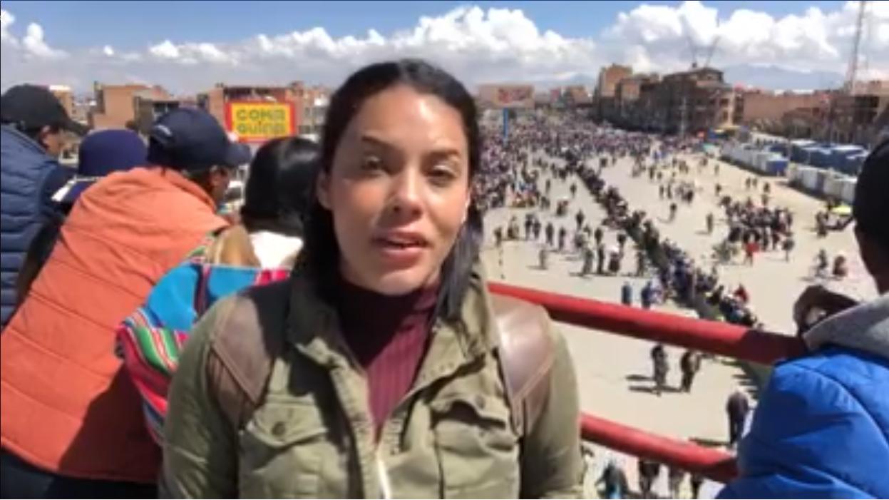 Camila Escalante in El Alto, Bolivia