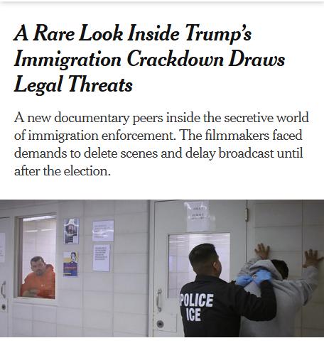 NYT: A Rare Look Inside Trump's Immigration Crackdown Draws Legal Threats
