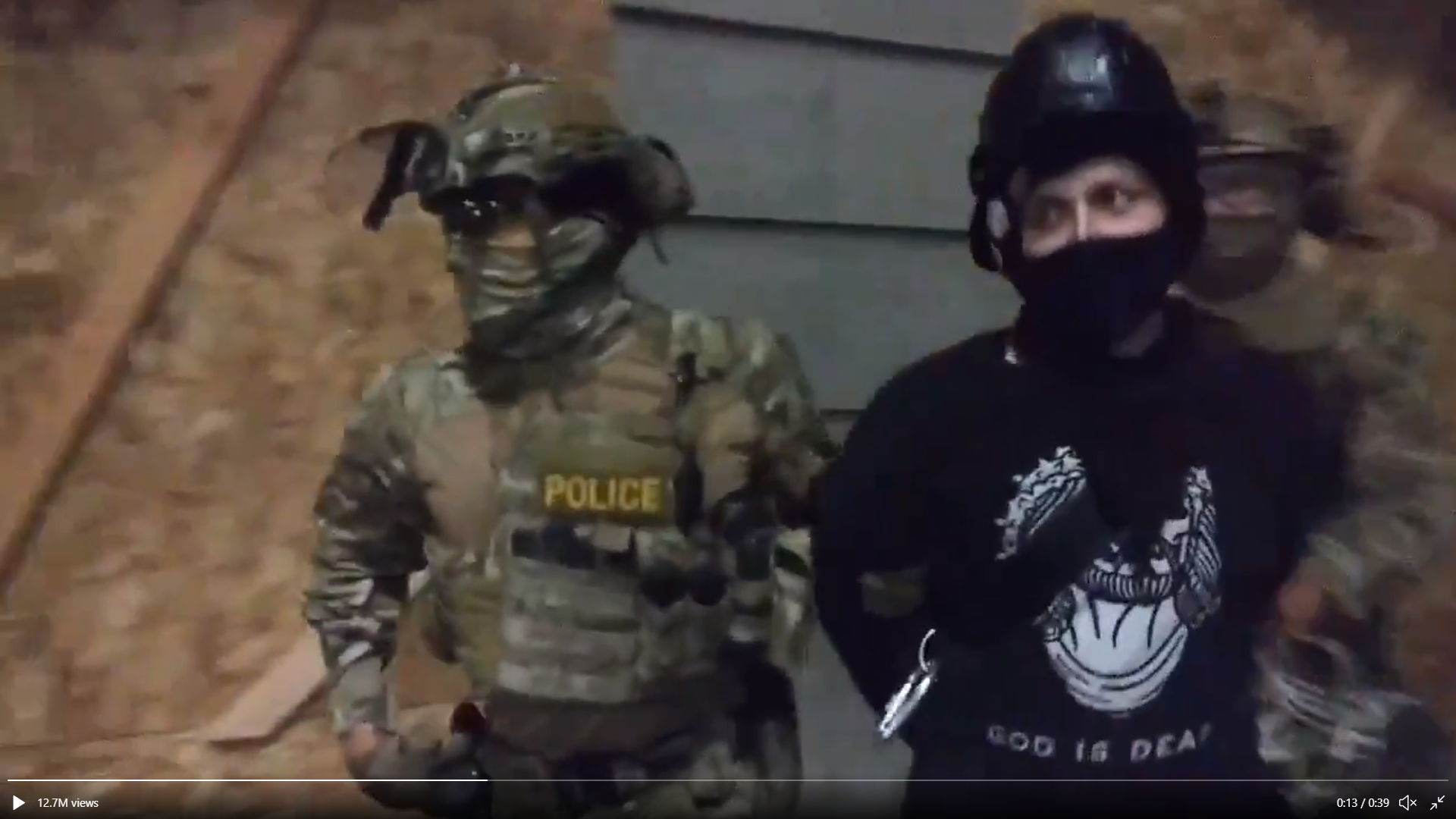 Secret police seizing a protester in Portland (image: The Sparrow Project)