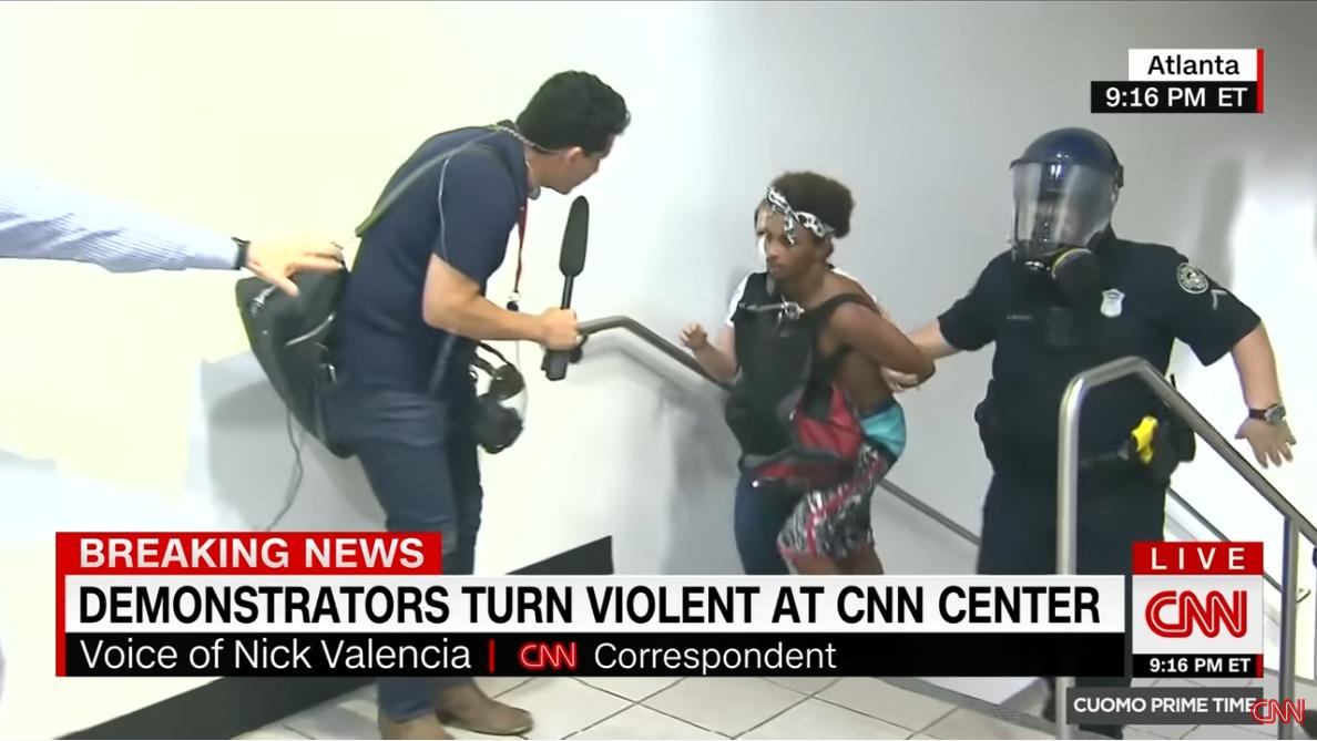 CNN: Demonstrators Turn Violent at CNN Center