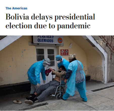 AP: Bolivia Delays Presidential Election Due to Pandemic