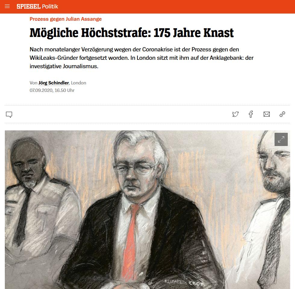 Der Spiegel: Mögliche Höchststrafe: 175 Jahre Knast