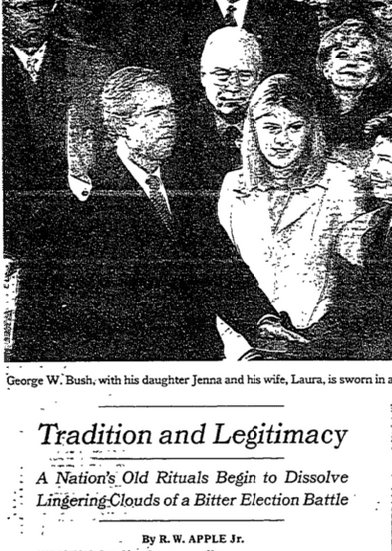 NYT: Tradition and Legitimacy