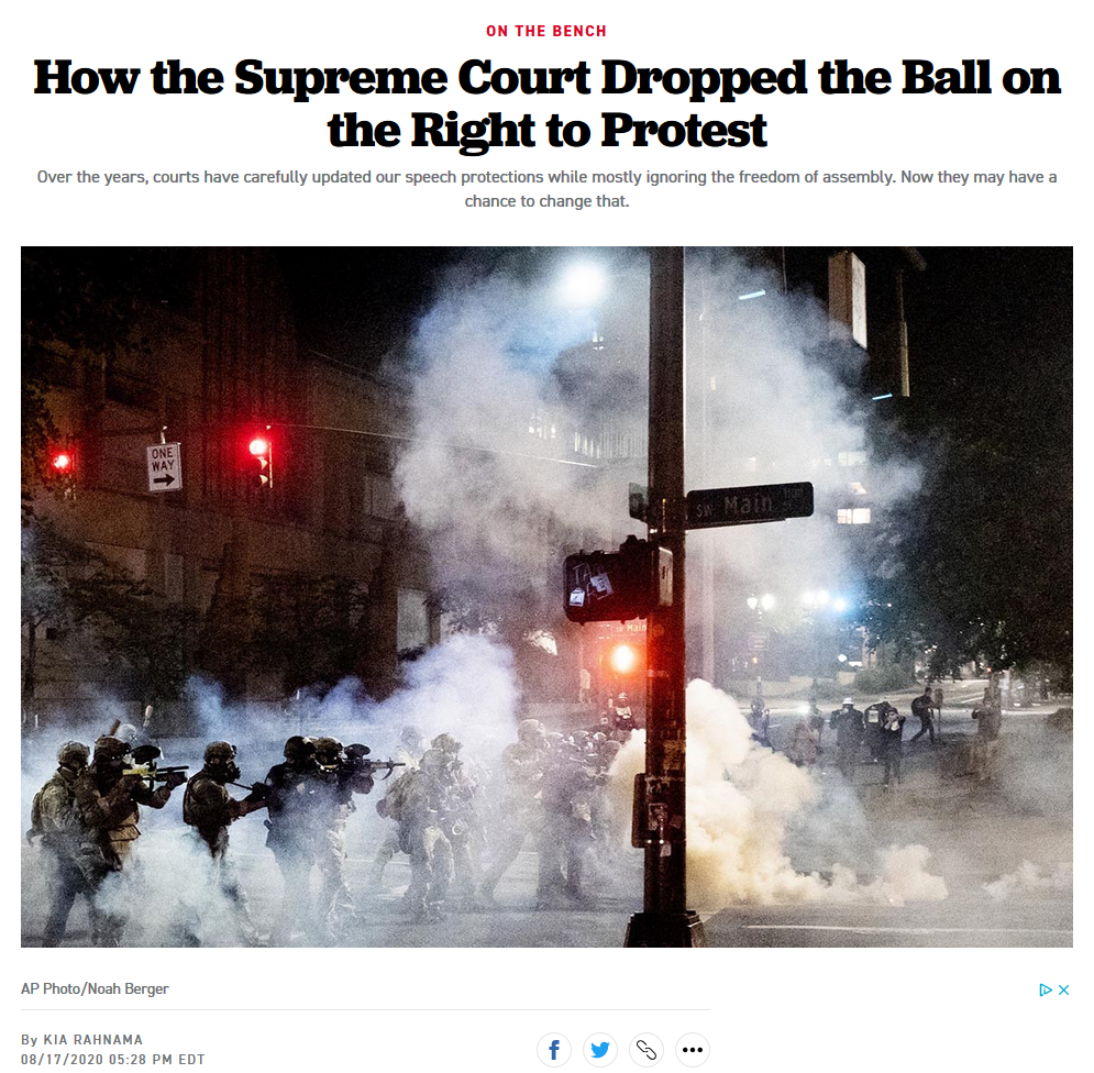 Politico: How the Supreme Court Dropped the Ball on the Right to Protest