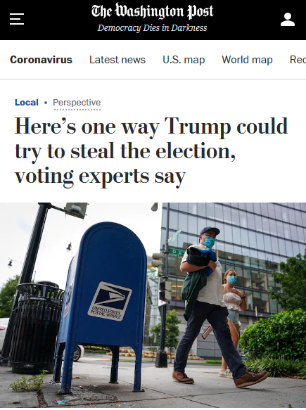 WaPo: Here's one way Trump could try to steal the election, voting experts say