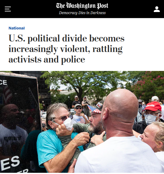WaPo: U.S. political divide becomes increasingly violent, rattling activists and police