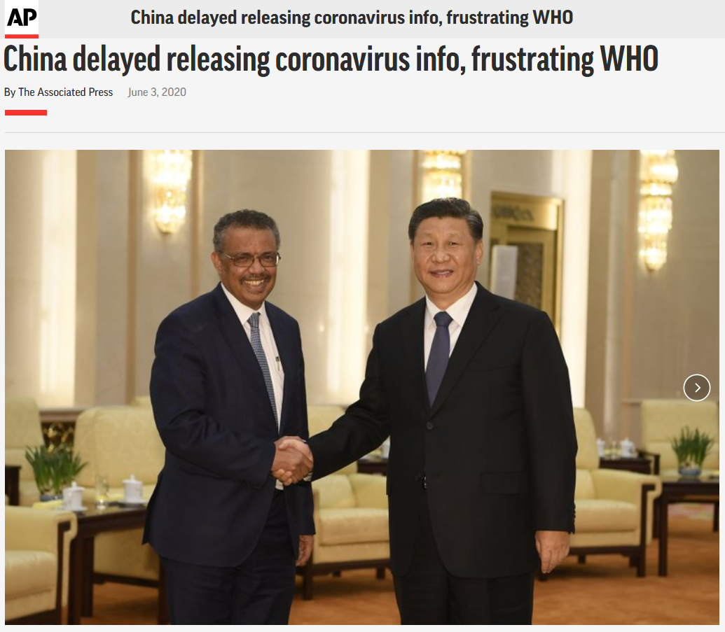AP: China delayed releasing coronavirus info, frustrating WHO