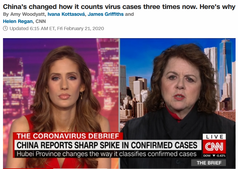 CNN: China's changed how it counts virus cases three times now. Here's why