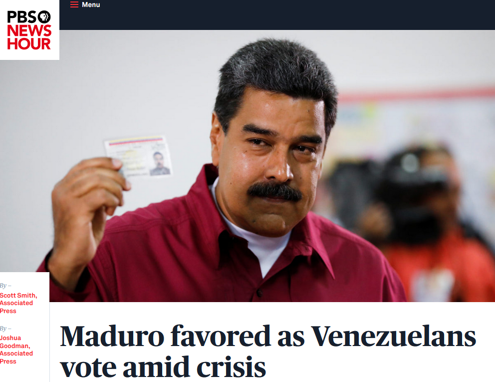 AP: Maduro favored as Venezuelans vote amid crisis