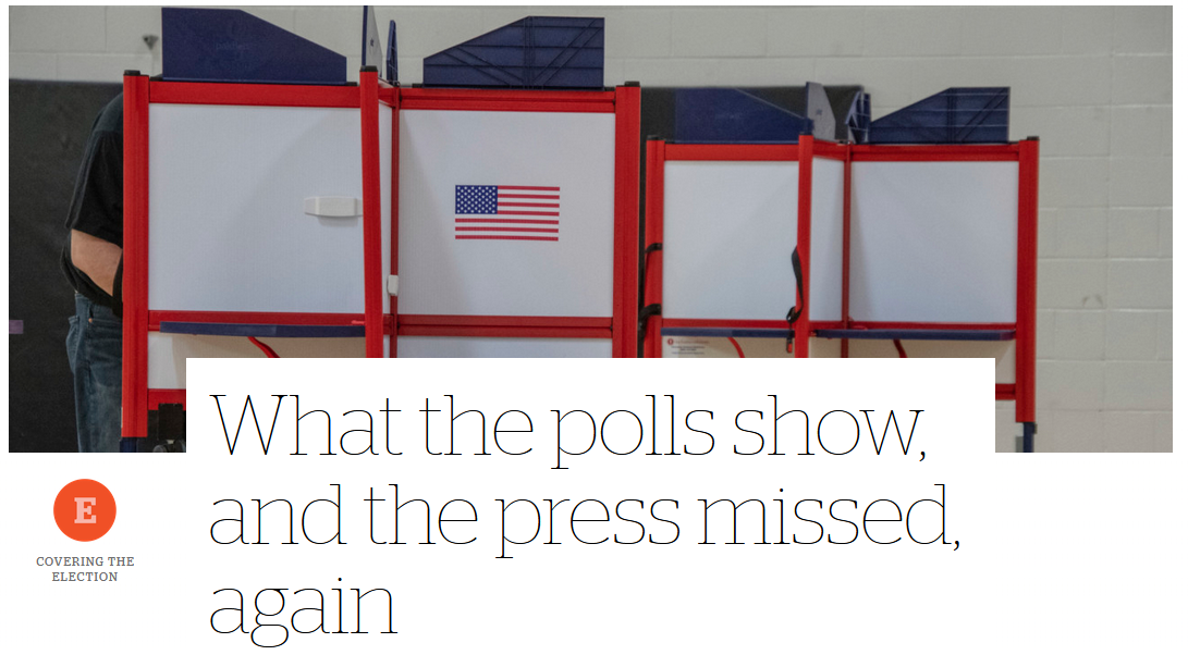 CJR: What the polls show, and the press missed, again