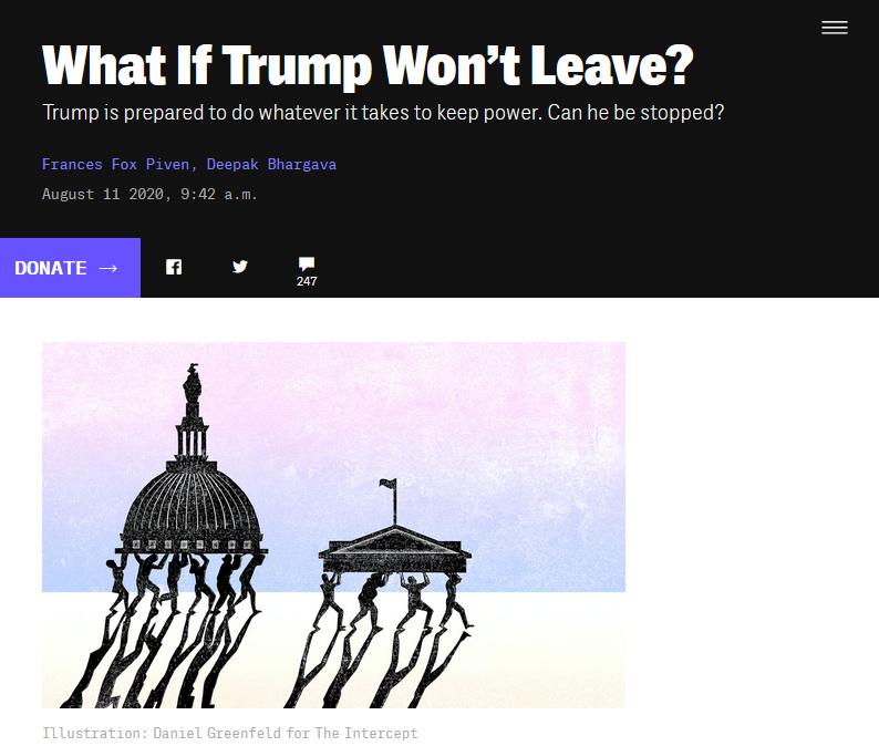 Intercept: What If Trump Won't Leave?
