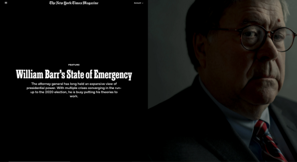NYT: William Barr'ın Olağanüstü Hali