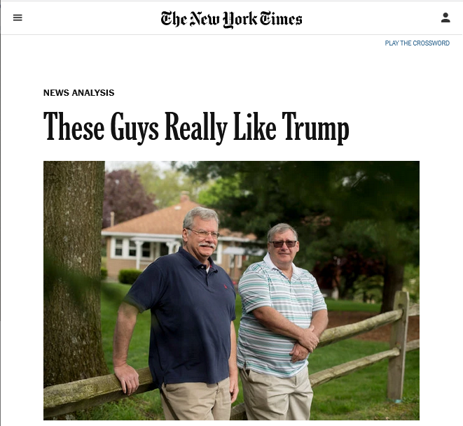NYT: These Guys Really Like Trump