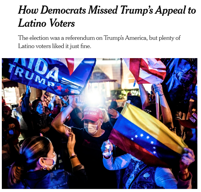 NYT: How Democrats Missed Trump's Appeal to Latino Voters