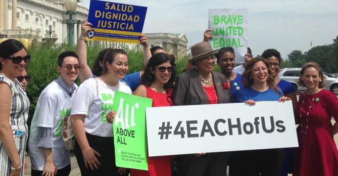 #4EachOfUs: Pro-choice activists, 2015