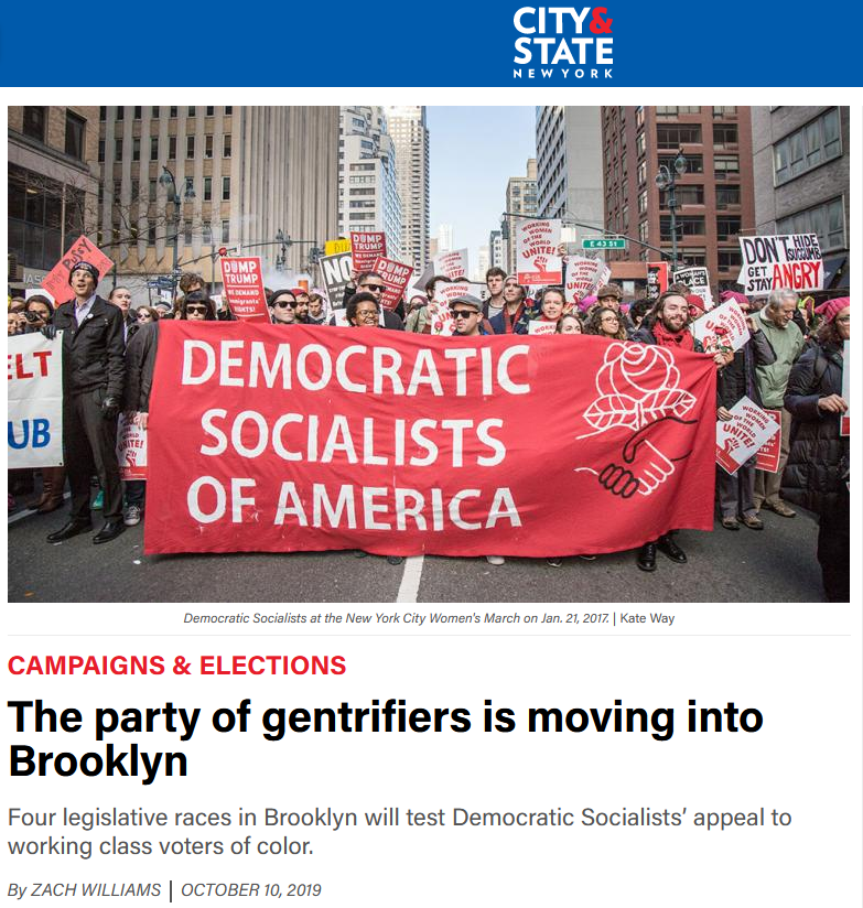 City & State: The Party of Gentrifiers Is Moving Into Brooklyn