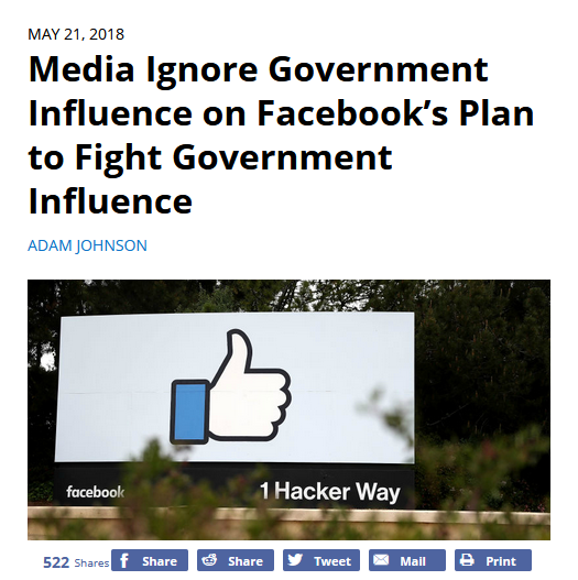 FAIR: Media Ignore Government Influence on Facebook's Plan to Fight Government Influence