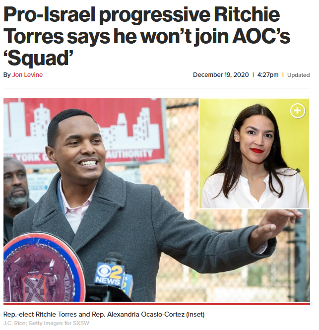 NY Post: Pro-Israel progressive Ritchie Torres says he won't join AOC's 'Squad'