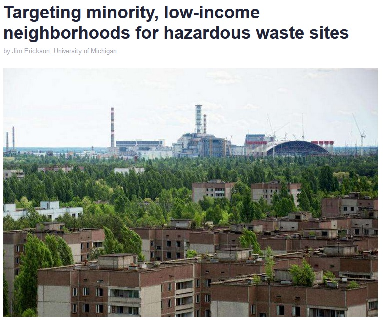 Phys Org: Targeting minority, low-income neighborhoods for hazardous waste sites