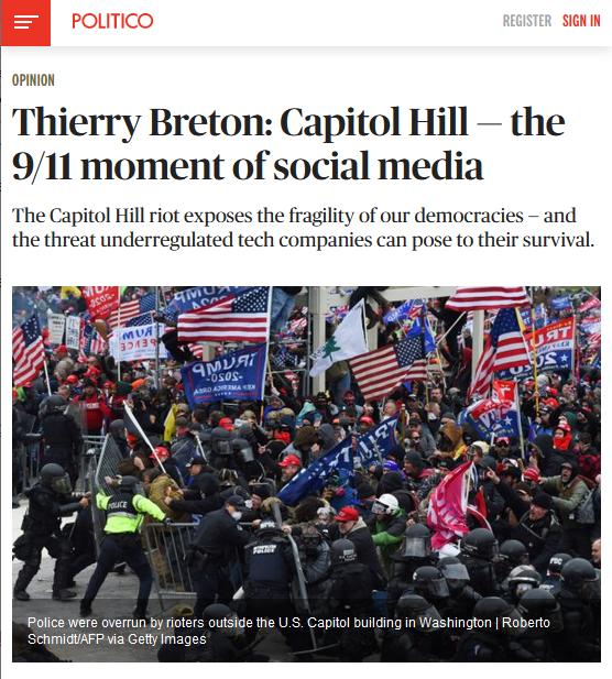 Politico: Capitol Hill — the 9/11 moment of social media