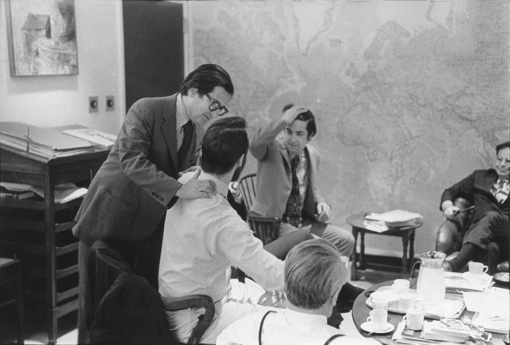 AM Rosenthal congratulating New York Times staffers on the publication of the Pentagon Papers