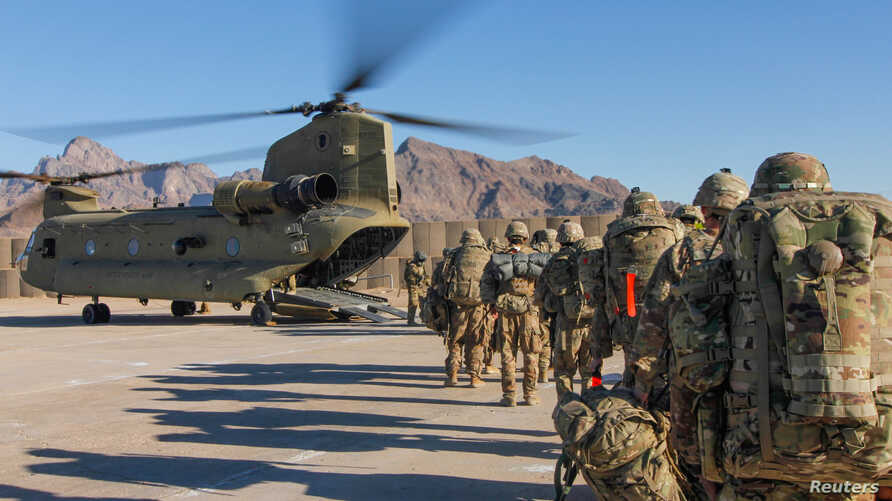 Voice of America depiction of US troops in Afghanistan
