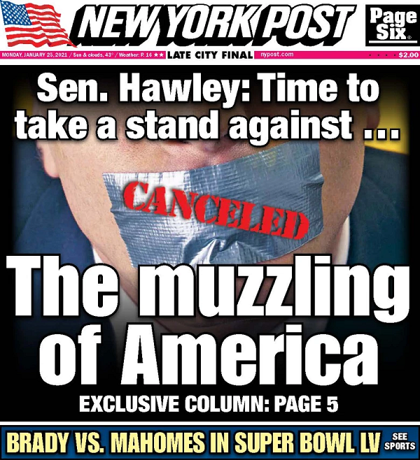 New York Post: The Muzzling of America