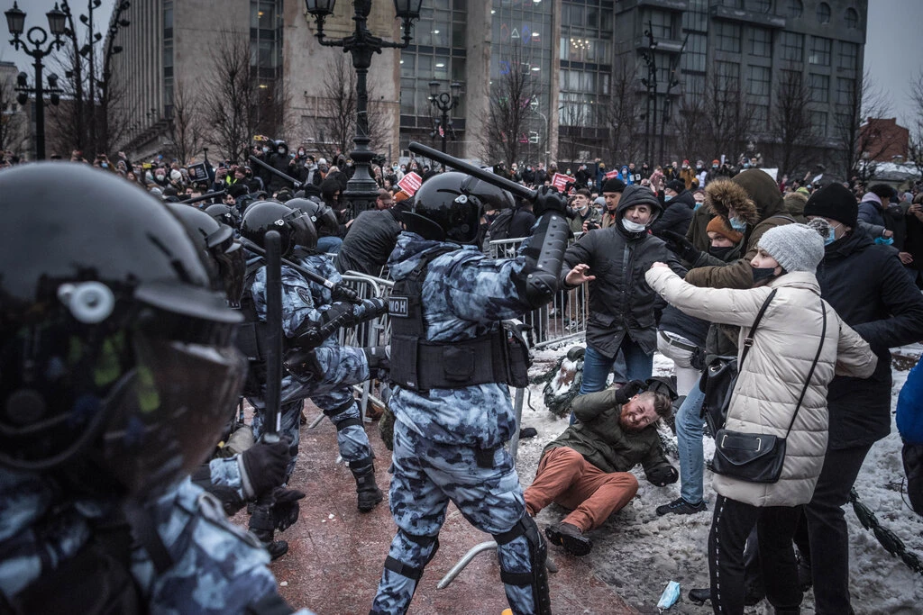 NYT depiction of Russian protests