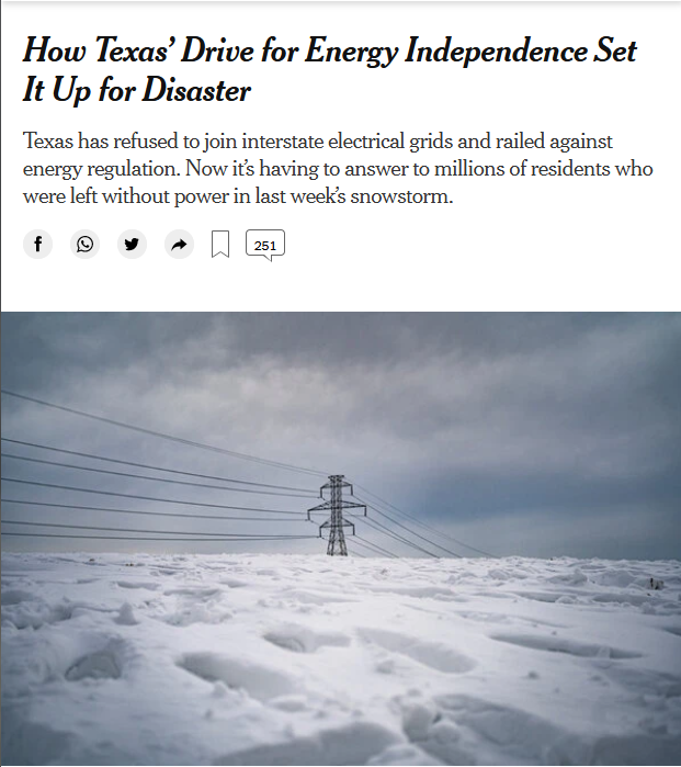 Texas: How Texas' Drive for Energy Independence Set It Up for Disaster