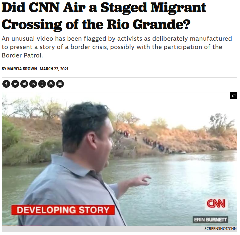 American Prospect: Did CNN Air a Staged Migrant Crossing of the Rio Grande?