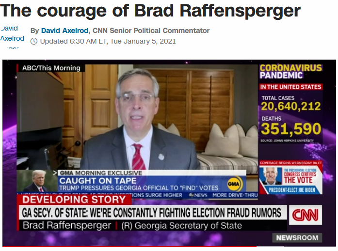 CNN: The Courage of Brad Raffensperger
