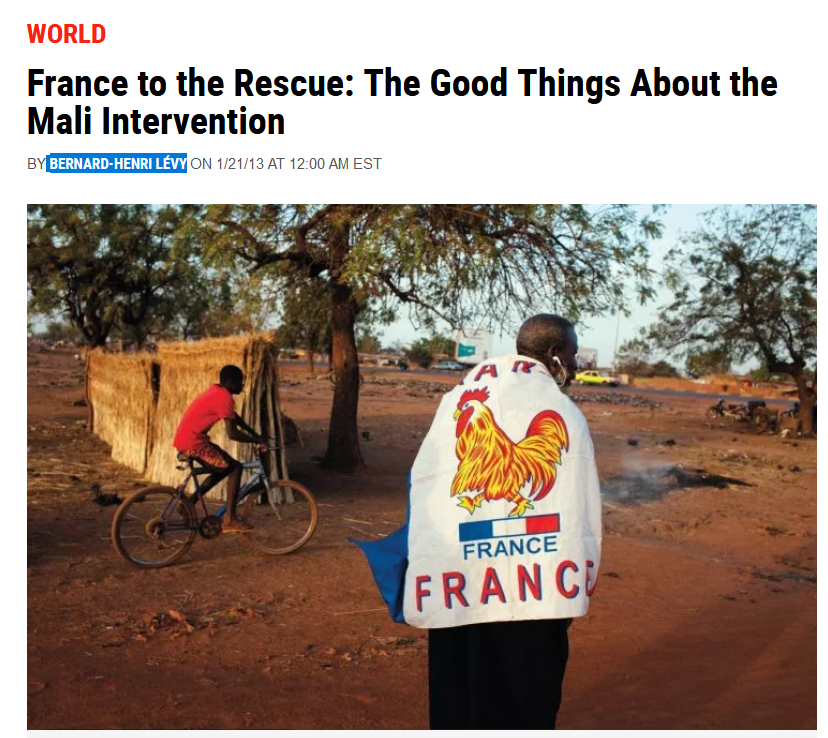 Newsweek: France to the Rescue: The Good Things About the Mali Intervention