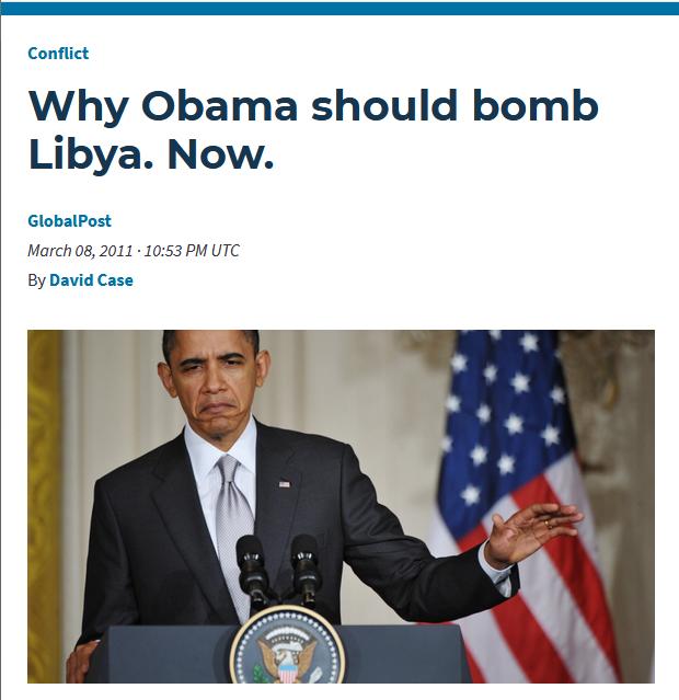 PRI: Why Obama should bomb Libya. Now.