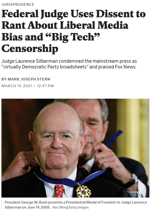 Slate: Federal Judge Uses Dissent to Rant About Liberal Media Bias and
