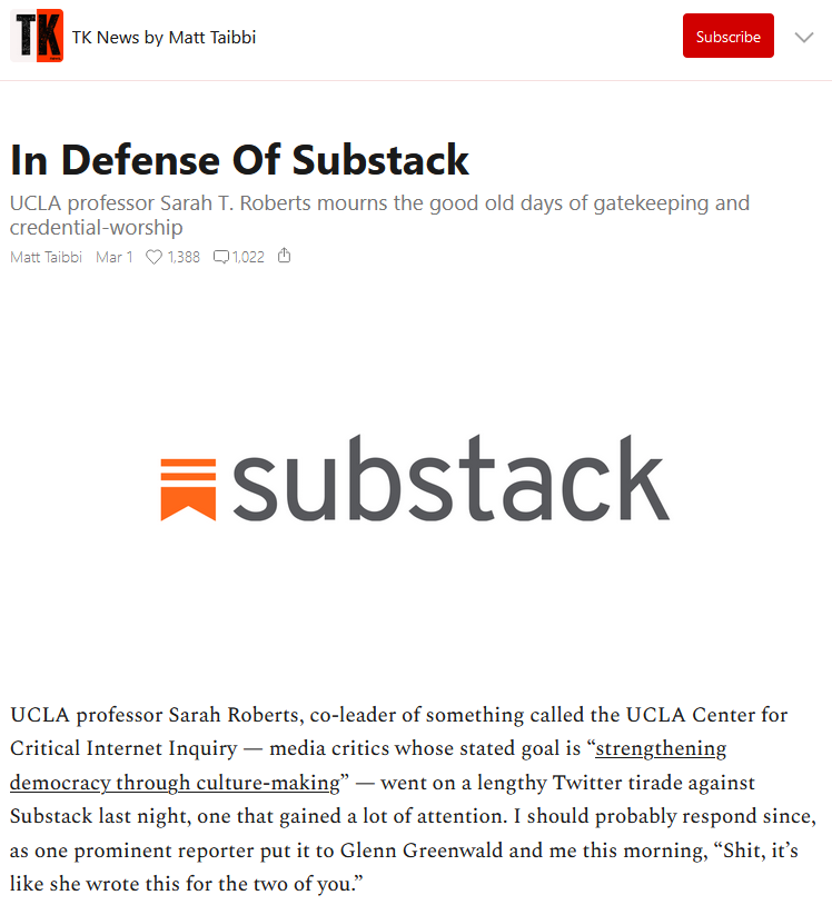 Substack: In Defense of Substack