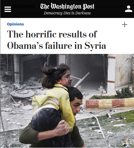 WaPo: The horrific results of Obama's failure in Syria