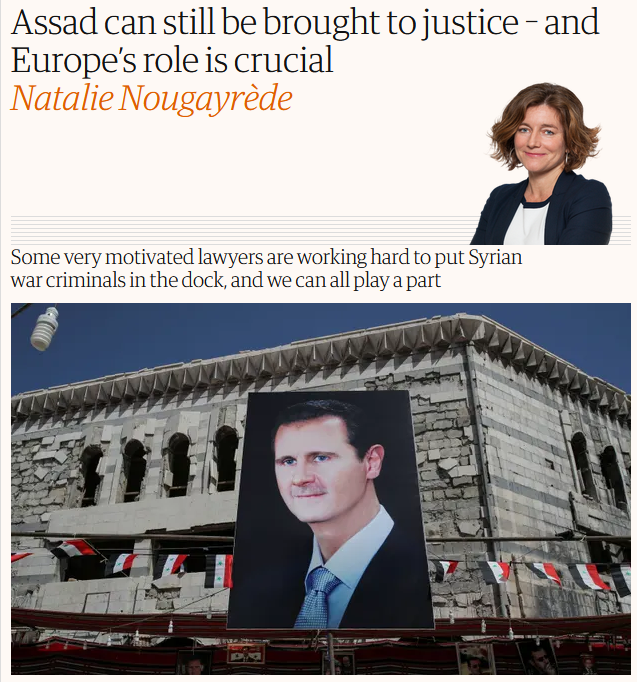 Guardian: Assad can still be brought to justice – and Europe's role is crucial