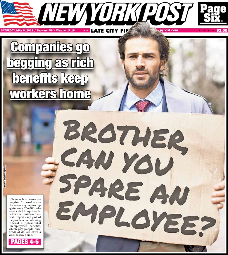 New York Post: Companies Go Begging as Rich Benefits Keep Workers Home