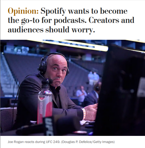 WaPo: Spotify wants to become the go-to for podcasts. Creators and audiences should worry.