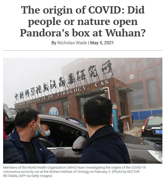 Bulletin of the Atomic Scientists: The origin of COVID: Did people or nature open Pandora's box at Wuhan?