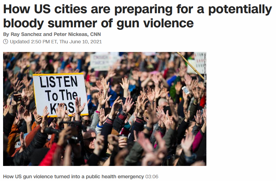 CNN: How US cities are preparing for a potentially bloody summer of gun violence
