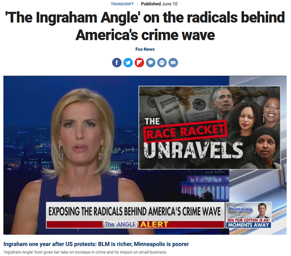 Fox: The Ingraham Angle on the Radicals Behind America's Crime Wave