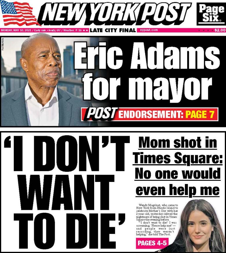 New York Post: Eric Adams for Mayor