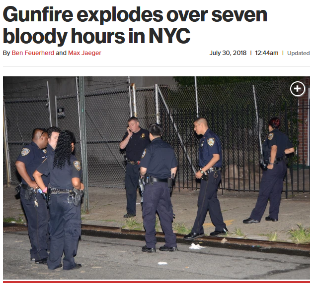 NY Post: Gunfire explodes over seven bloody hours in NYC
