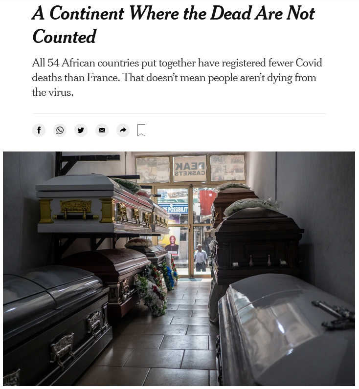 NYT: A Continent Where the Dead Are Not Counted