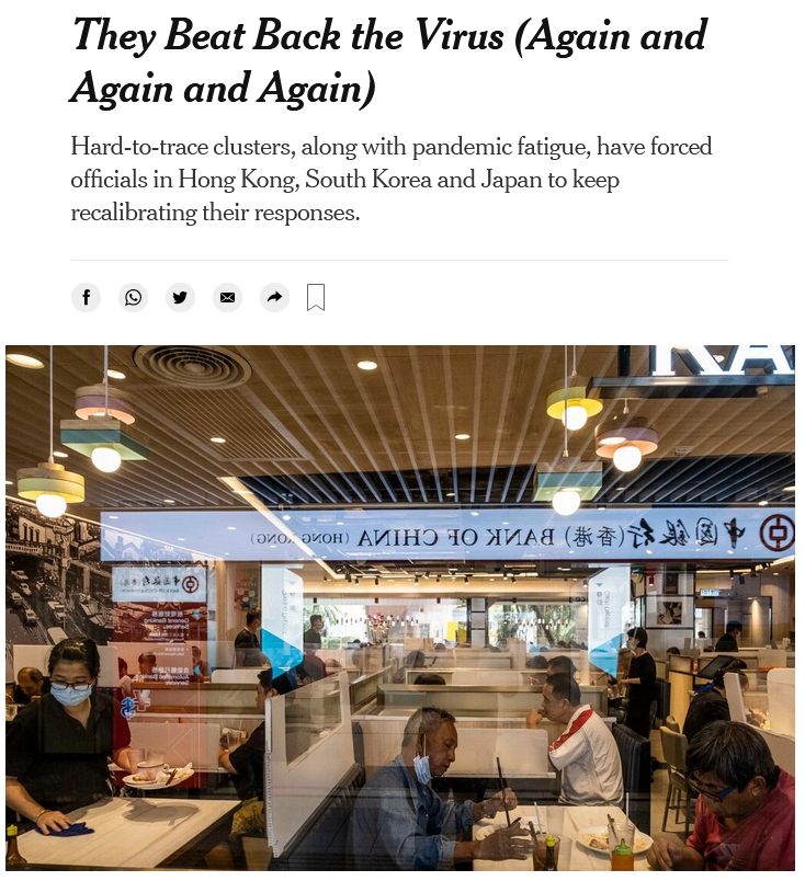 NYT: They Beat Back the Virus (Again and Again and Again)