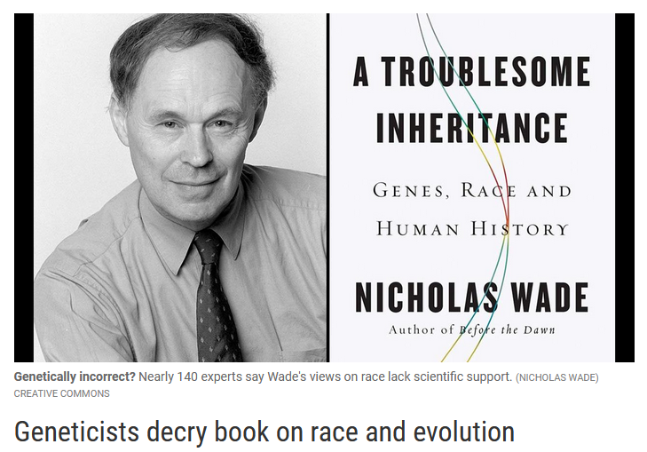 Science: Geneticists decry book on race and evolution