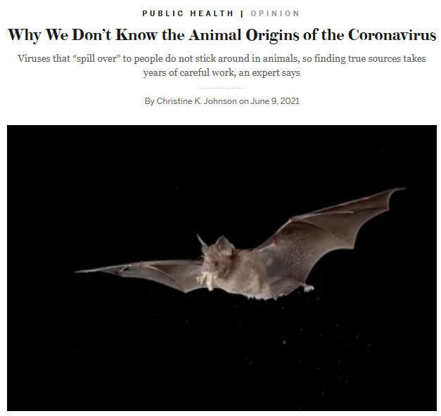 Scientific American: Why We Don't Know the Animal Origins of the Coronavirus